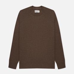 Мужской свитер Universal Works Loose Crew Neck Recycled Wool Light Brown