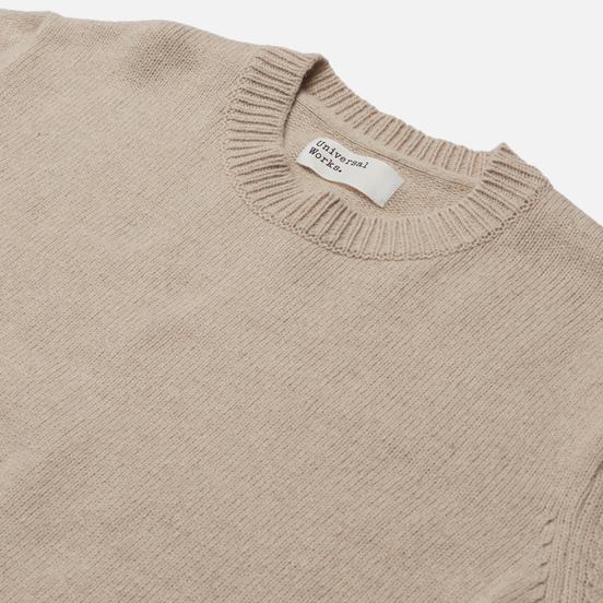 Мужской свитер Universal Works Loose Crew Neck Recycled Wool Sand