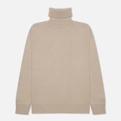 Мужской свитер Universal Works Roll Neck Recycled Wool Sand