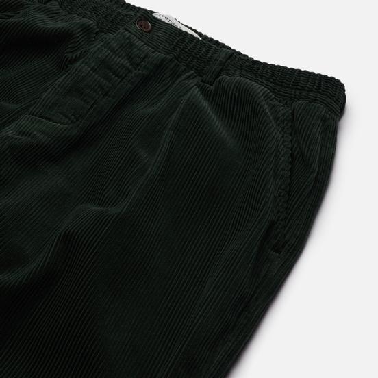 Мужские брюки Universal Works Pleated Track Cord Forest Green
