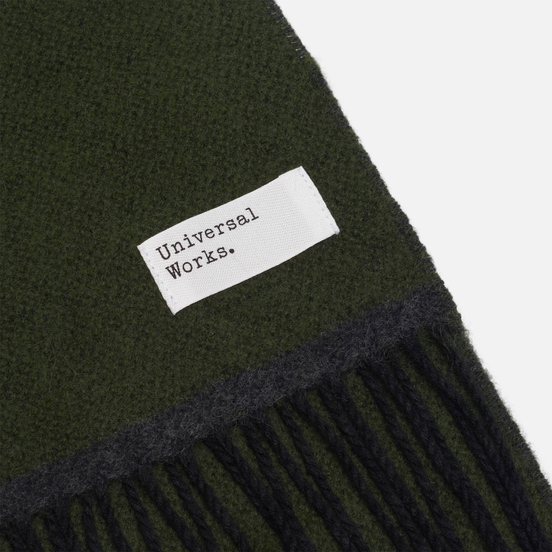 Шарф Universal Works Double Sided Olive/Charcoal