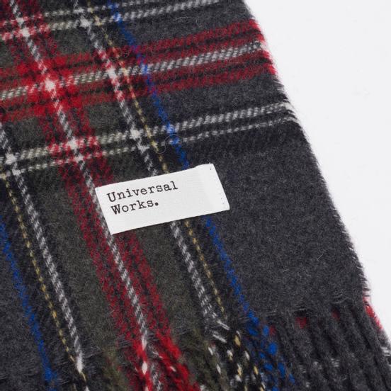 Шарф Universal Works Tartan Wool Charcoal