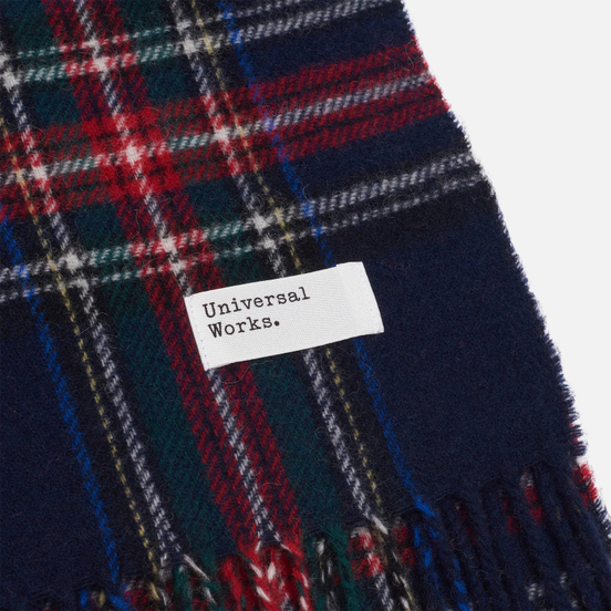 Шарф Universal Works Tartan Wool Navy