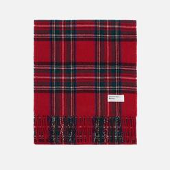 Шарф Universal Works Tartan Wool Red