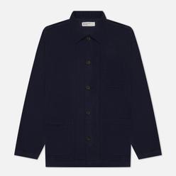 Мужская рубашка Universal Works Bakers Overshirt Fine Cord Deep Blue