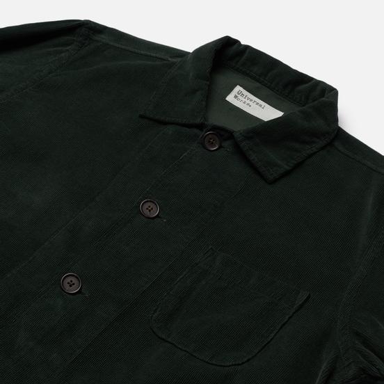 Мужская рубашка Universal Works Bakers Overshirt Fine Cord Forest Green