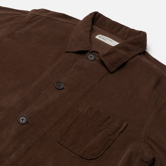 Мужская рубашка Universal Works Bakers Overshirt Fine Cord Light Brown