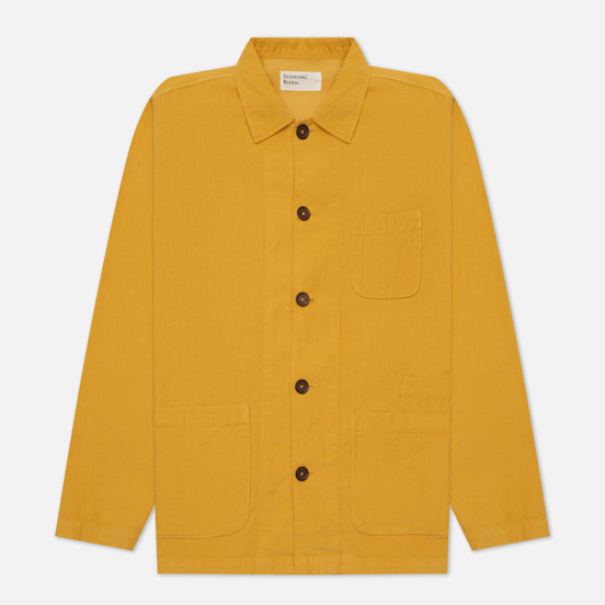 Мужская рубашка Universal Works Bakers Overshirt Fine Cord Mustard