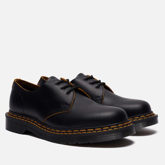 Ботинки Dr. Martens 1461 Double Stitch Leather 3 Eye Black/Yellow