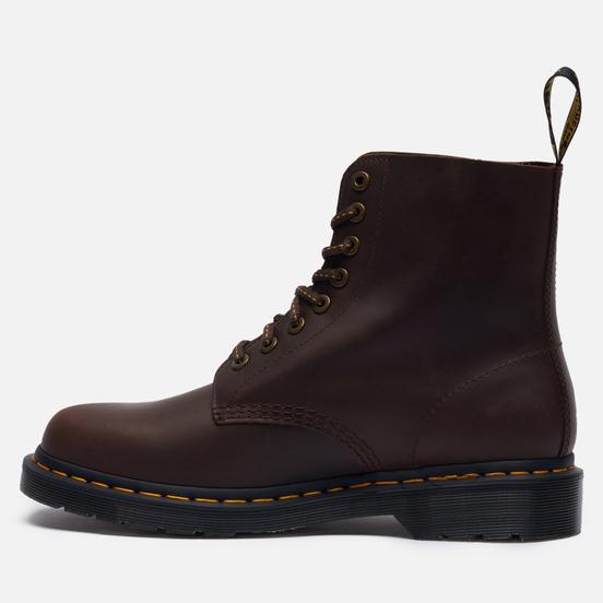 Мужские ботинки Dr. Martens 1460 Pascal 8 Eye Dark Brown Wild Buck