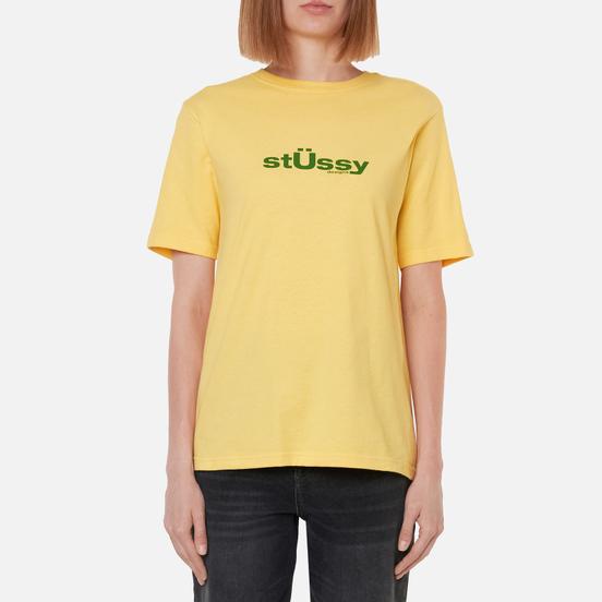 Женская футболка Stussy Big U Yellow