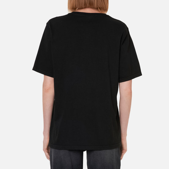 Женская футболка Stussy Ist Daisy Pigment Dyed Black