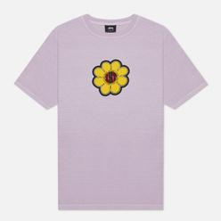 Женская футболка Stussy Ist Daisy Pigment Dyed Lavender