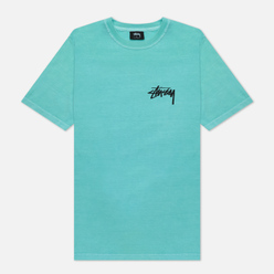 Женская футболка Stussy Peace And Love Pigment Dyed Aqua