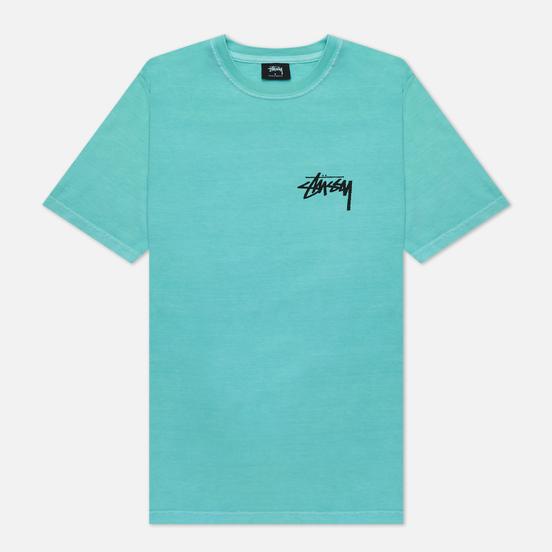 Женская футболка Stussy Peace And Love Pigment Dyed Aqua
