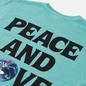 Женская футболка Stussy Peace And Love Pigment Dyed Aqua фото - 2