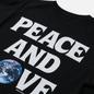 Женская футболка Stussy Peace And Love Pigment Dyed Black фото - 2