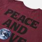 Женская футболка Stussy Peace And Love Pigment Dyed Wine фото - 2