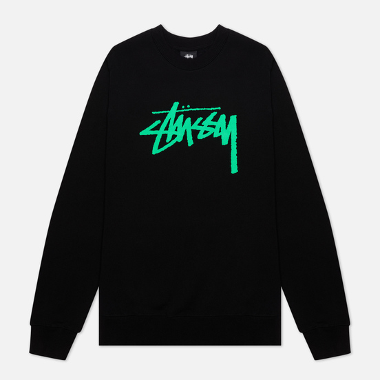 Женская толстовка Stussy Stock Logo Crew Black