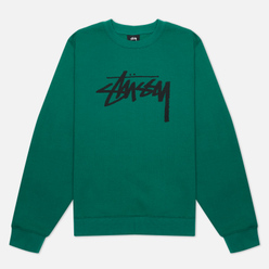 Женская толстовка Stussy Stock Logo Crew Dark Green