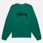 Женская толстовка Stussy Stock Logo Crew Dark Green фото - 0