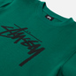 Женская толстовка Stussy Stock Logo Crew Dark Green фото - 1
