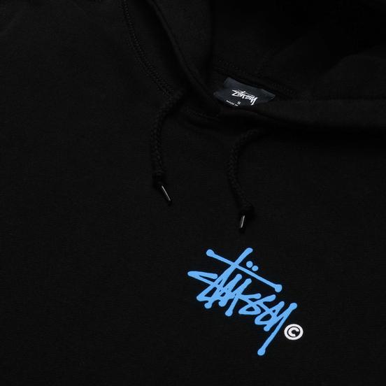 Женская толстовка Stussy Basic Printed Logo Hoodie Black