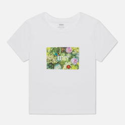 Женская футболка Levi's Graphic Surf Fun Photo Hummingbird White