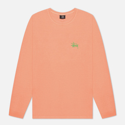 Женский лонгслив Stussy Basic Stussy Pigment Dyed Neon Orange
