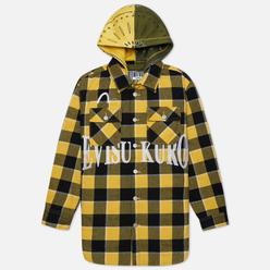 Мужская куртка Evisu Checked Det Hoodie Padded Shirt Yellow