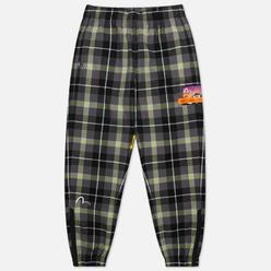 Мужские брюки Evisu Evisukuro Plaid Flannel Lounge Green Check