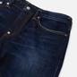 Мужские джинсы Evisu 2023 Double Embroidered Seagull Pocket Indigo Medium Tone фото - 1