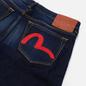 Мужские джинсы Evisu 2023 Double Embroidered Seagull Pocket Indigo Medium Tone фото - 2