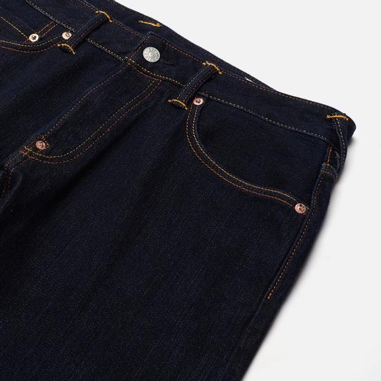 Мужские джинсы Evisu Heritage 2017 Double Printed Seagull Pocket Indigo Medium Tone