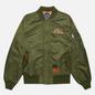Мужская куртка бомбер Evisu Godhead Embroidery Padded MA-1 Army Green фото - 0