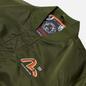 Мужская куртка бомбер Evisu Godhead Embroidery Padded MA-1 Army Green фото - 1
