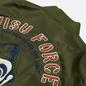 Мужская куртка бомбер Evisu Godhead Embroidery Padded MA-1 Army Green фото - 2