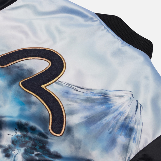 Мужская куртка бомбер Evisu Taka Fuji Mountain Allover Print Multi