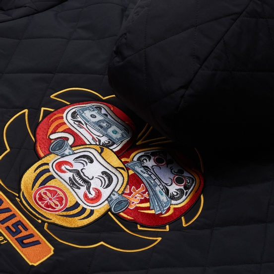 Мужской пуховик Evisu Reversible Daruma Graphic Printed Down Black/Multi