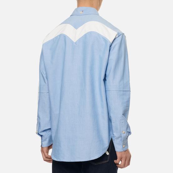 Мужская рубашка Evisu Daicock Print Oxford Blue