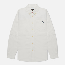 Мужская рубашка Evisu Daicock Print Oxford Off White