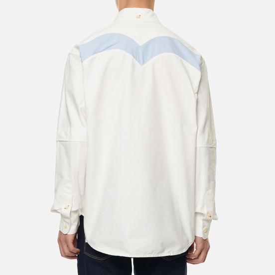 Мужская рубашка Evisu Daicock Print Oxford Off White