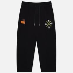 Мужские брюки Evisu Godhead Printed Wide Leg Black
