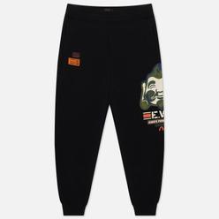 Мужские брюки Evisu Godhead Printed Regular Black