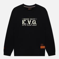 Мужская толстовка Evisu Godhead Embroidered Crew Neck Black