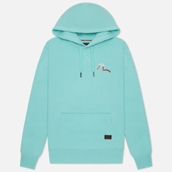 Мужская толстовка Evisu Fuji Mountain Taka All Over Print Daicock Hoodie Light Blue
