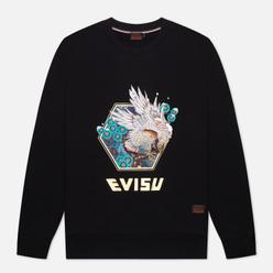Мужская толстовка Evisu Heritage Taka Embroidery Black