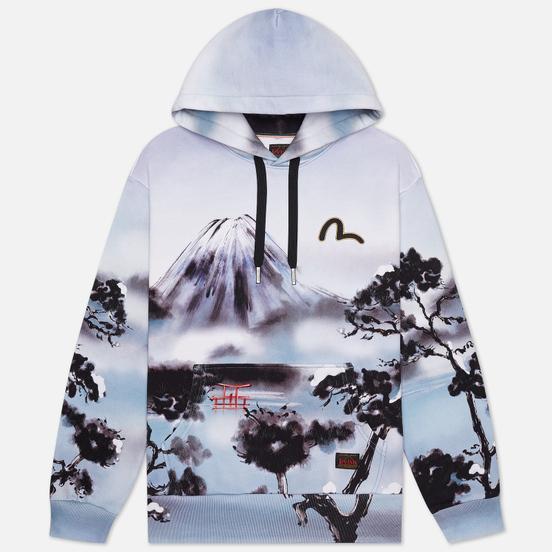 Мужская толстовка Evisu Fuji Mountain Taka All Over Print Hoodie Multi