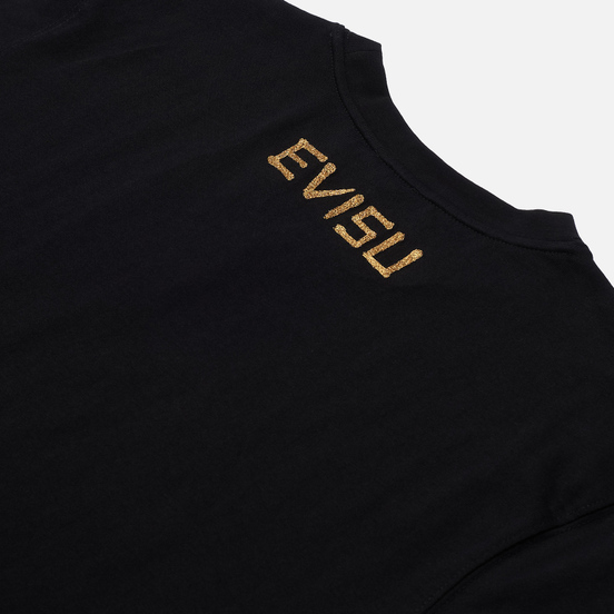 Мужская футболка Evisu Seagull Applique Black