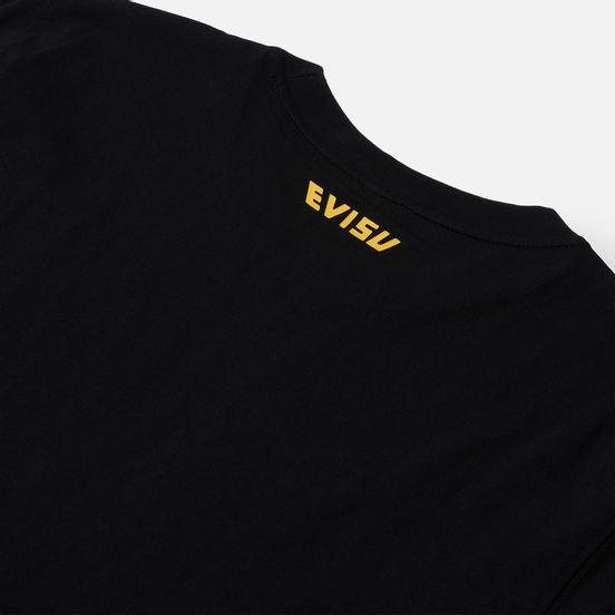 Мужская футболка Evisu Heritage Three Wise Darumas Poster Print Black